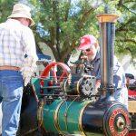 Vintage Model Steam Engine Display